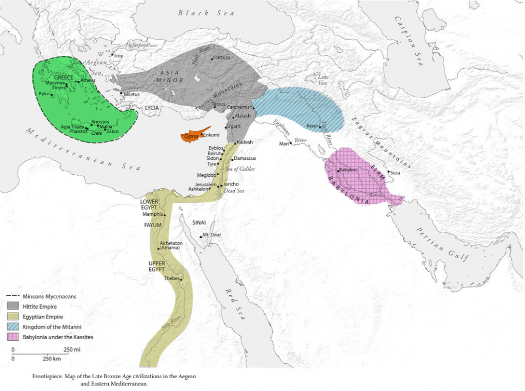 Late Bronze Age map of eastern Mediterranean (from the book!)