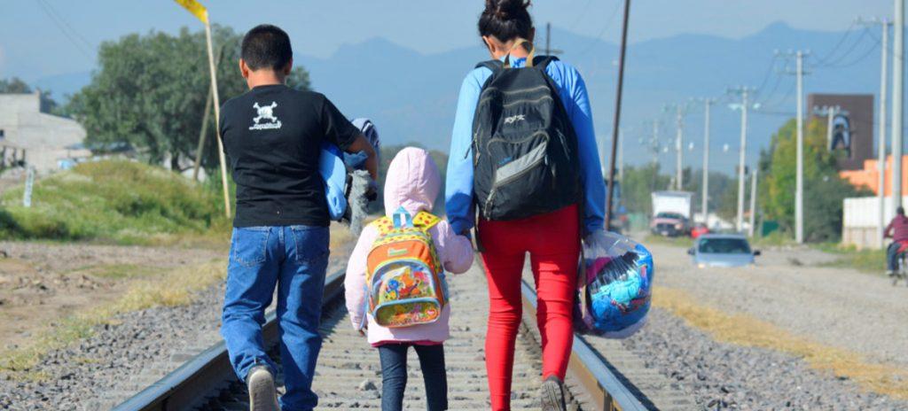 Three Honduran children walk north to cross the US border and meet their parents. Source.
